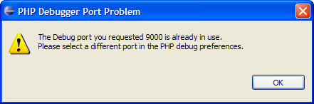 Debug port message.png