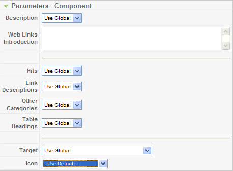 Web link parameters component1.png