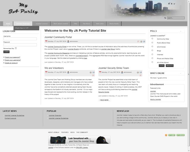 Modify Joomla Template Tutorial