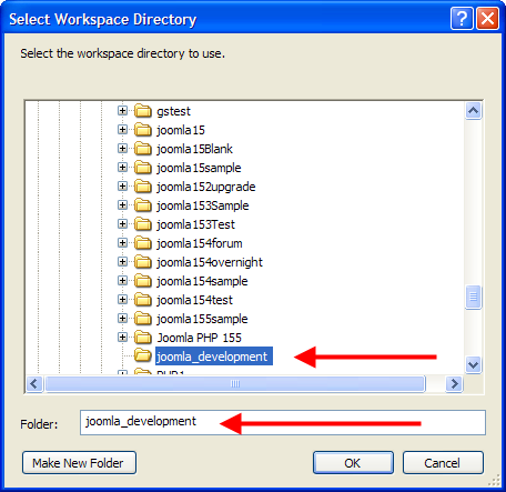 Configuring Eclipse for joomla development - Joomla