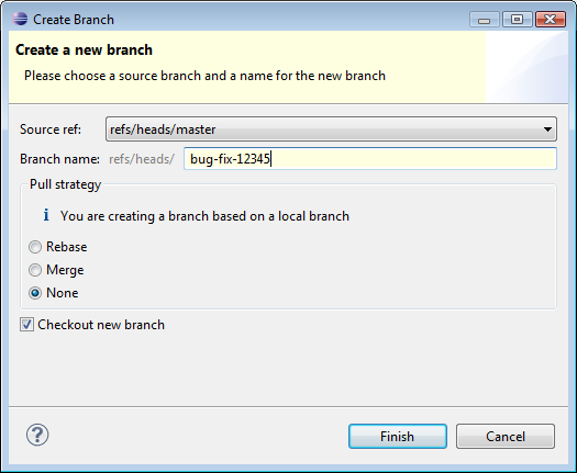 how to create a new branch in git