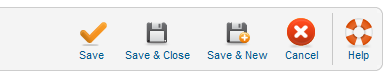 New/Edit User Toolbar