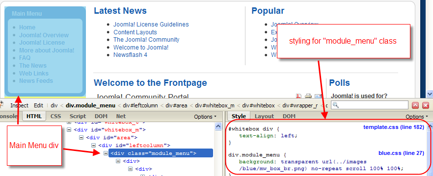 Using class suffixes joomla documentation - Css div template ...