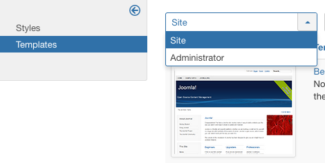 Help38:Extensions Template Manager Templates - Joomla! Documentation