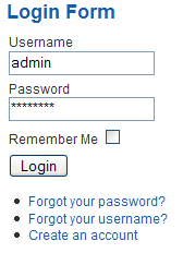Customising the Login Form module - Joomla! Documentation
