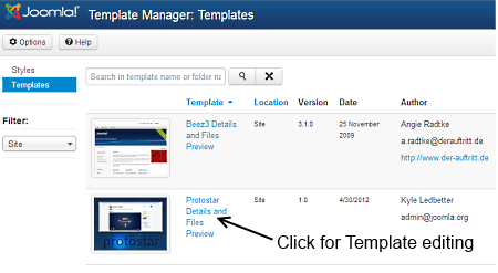 J3xmodifying A Joomla Template Joomla Documentation
