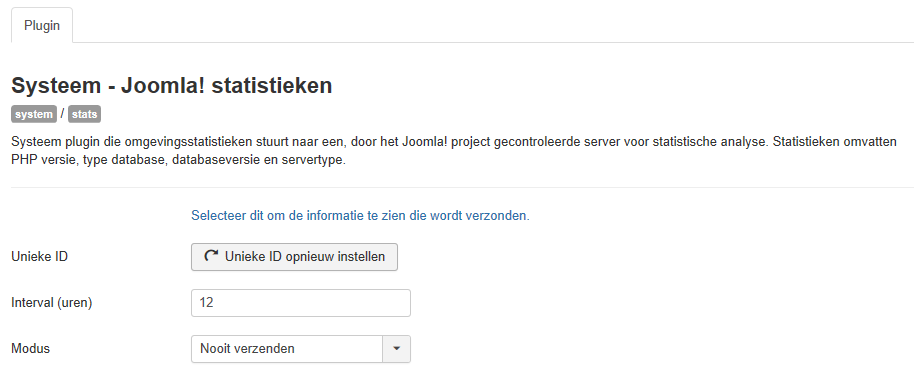 Help30-Extensions-Plugin-Manager-Edit-system-JoomlaStatistics-options-screen-nl.png