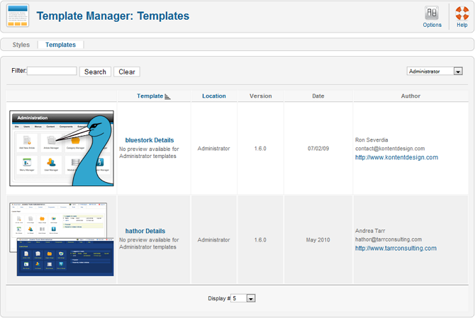 Help16-extensions-template manager-templates-screen.png