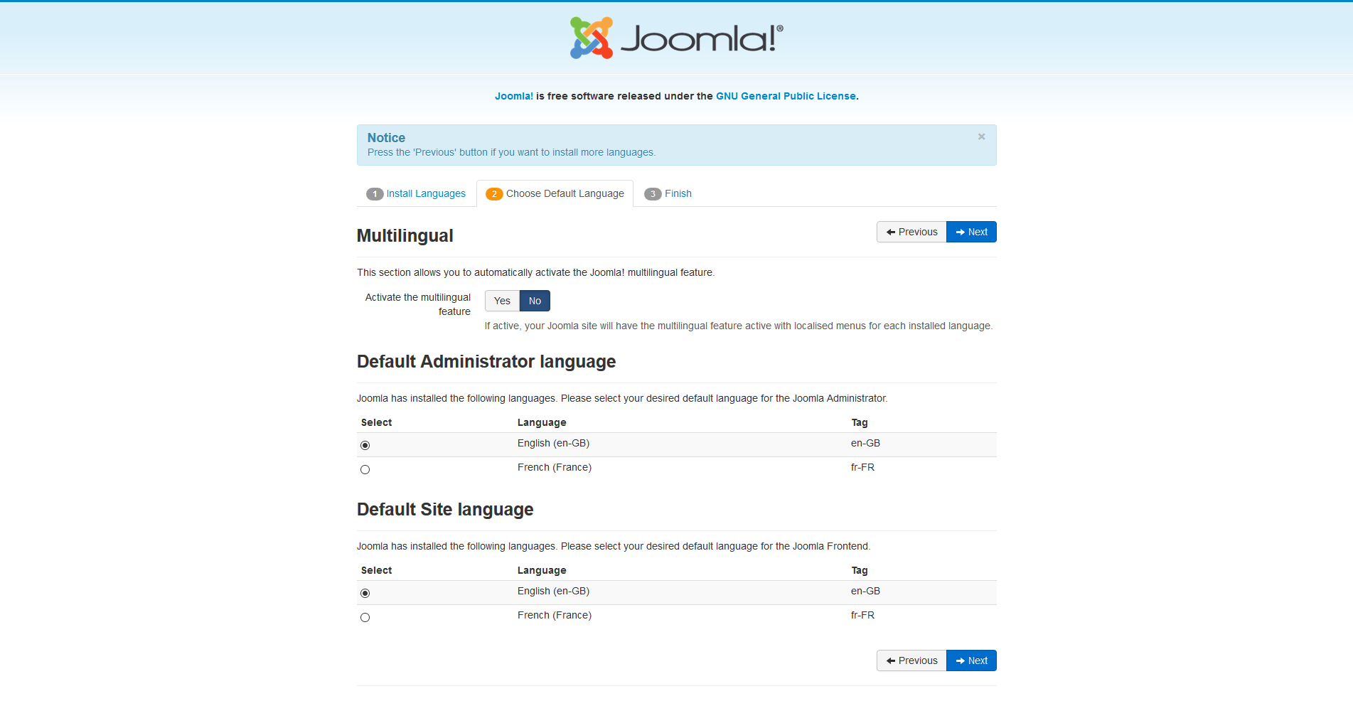 j3 x installing joomla joomla documentation