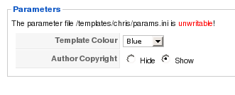 J15defining a parameter in templatedetailsxml joomla template parameters exampleg altavistaventures Choice Image