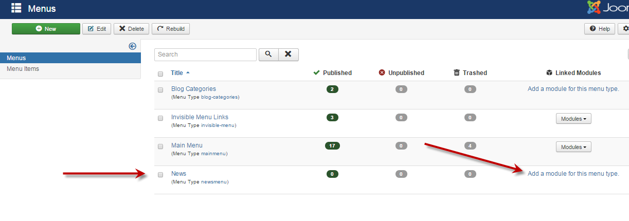 J3xadding a new menu joomla documentation j3x add menu with module 2 eng publicscrutiny Gallery