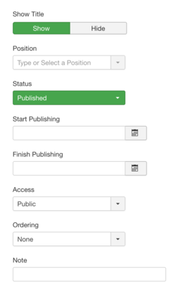Help39:Extensions Module Manager Admin Submenu - Joomla! Documentation