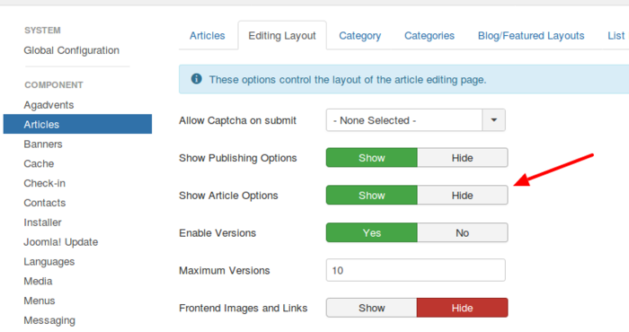 Articles Options test Administration-en.png